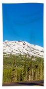 Highway Passing By Mountain Beach Towel