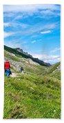 Hiking On Savage River Trail In Denali Np-ak    Beach Towel