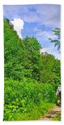Hiking Trail Along Rivier Du Nord In The Laurentians North Of Montreal-qc Beach Towel