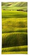Hills Of Toscany Beach Towel