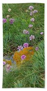 Hillside Of Wildflowers Beach Towel
