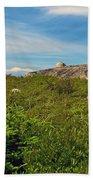 Hillside View Of Swissair Flight 111 Memorial In Whalesback-ns Beach Towel