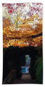 Hillwood Mansion Fall Garden Beach Towel