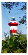 Hilton Head Lighthouse And Palmetto Beach Towel