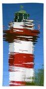 Hilton Head Lighthouse Reflection Beach Towel
