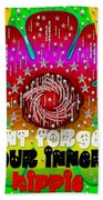 Hippie Art Beach Towel