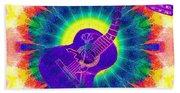 Hippie Guitar Beach Towel