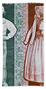 His And Hers Traditional Costumes Beach Towel