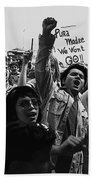 Hispanic Anti-viet Nam War Rally Tucson Arizona 1971 Black And White Beach Towel