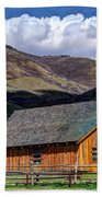 Historic Barn - Wasatch Front Beach Towel