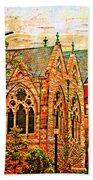 Historic Churches St Louis Mo - Digital Effect 6 Beach Towel