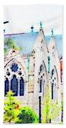 Historic Churches St Louis Mo - Digital Effect 7 Beach Towel
