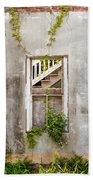 Historic Florida Building - Apalachicola Exchange Building Beach Towel by Bill Swindaman