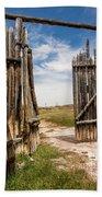 Historic Fort Bridger Gate - Wyoming Beach Towel