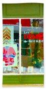 Historic Habs Hockey Jersey St Henri Storefront Les Demons De Notre Dame Montreal Art Carole Spandau Beach Towel