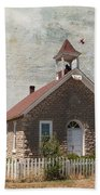 Historic Hinerville School  House  Beach Towel