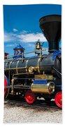 Historic Jupiter Steam Locomotive - Promontory Point Beach Towel by Gary Whitton