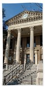 Historic Limestone County Courthouse In Athens Alabama Beach Towel