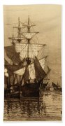 Historic Seaport Schooner Beach Towel