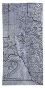 Historic Texas Map Beach Towel by Dan Sproul
