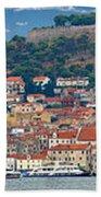 Historic Town Of Sibenik Panorama Beach Towel