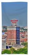Historic Western Auto Building Kansas City  Missouri Beach Towel