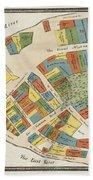 Historical Map Of Manhattan Beach Towel