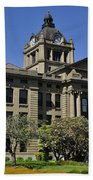 Historical Montesano Courthouse Beach Towel