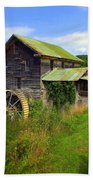 Historical Whites Mill Beach Towel by Karen Wiles