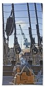 Hms Victory Cannon Beach Towel