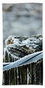 Hoar Frost At Sun Up Beach Towel
