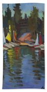 Hobie Cats At Lake Arrowhead Beach Towel