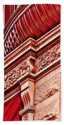 Hoboken Brownstone Art Beach Towel