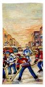 Hockey Daze Beach Towel by Carole Spandau