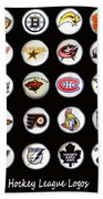 Hockey League Logos Bottle Caps Beach Towel
