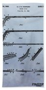 Hockey Stick Patent Beach Towel