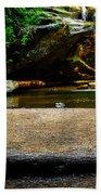 Hocking Hills Waterfall Beach Towel