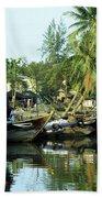 Hoi An Fishing Boats 01 Beach Towel