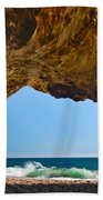Hole In The Wall - Natural Tunnel In Santa Cruz Beach Towel