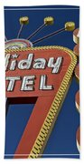 Holiday Motel Las Vegas Beach Towel