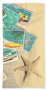 Holiday Postcards Beach Towel by Amanda Elwell
