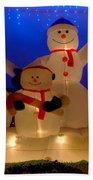 Holiday Snowmen 2 Beach Towel