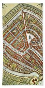 Holland: Gouda Plan, 1649 Beach Towel
