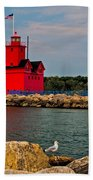 Holland Harbor Light Beach Towel