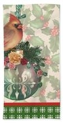 Holly And Berries-a Beach Towel