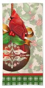 Holly And Berries-b Beach Towel
