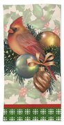 Holly And Berries-c Beach Towel