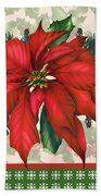 Holly And Berries-h Beach Towel