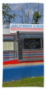 Hollywood Diner Beach Towel