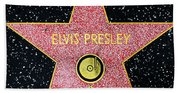 Hollywood Walk Of Fame Elvis Presley 5d28923 Beach Towel